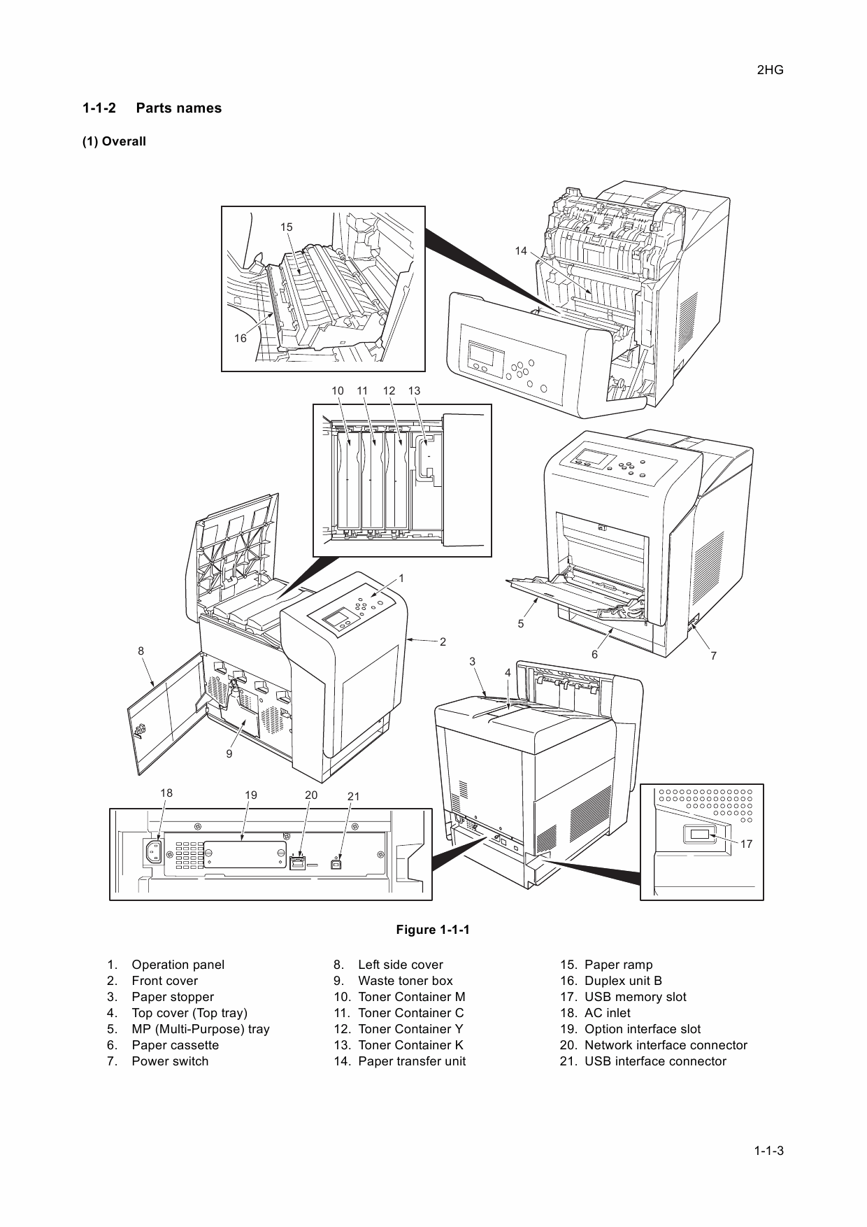 KYOCERA ColorLaserPrinter FS-C5400DN Parts and Service Manual